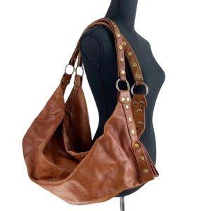 Hammitt Oversized Hobo Shoulder Bag Cognac Leather
